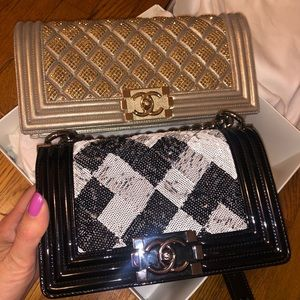 Chanel Boy and Chanel Clutch